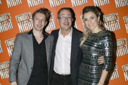 Ben Elton, with Michael McKell and Jade Ewen, who star in show about music of Rod Stewart, below