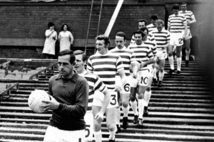 Ronnie Simpson leads the Lisbon Lions as they march out for the last time together. #SportTimestop50