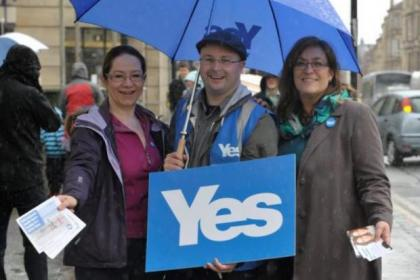 Yes campaigners claim the word on the street is positive