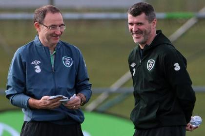 Martin O'Neill took the Republic of Ireland press conference yesterday instead of Roy Keane