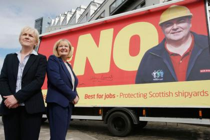 Scottish Labour leader Johann Lamont (left) and Margaret Curran MP