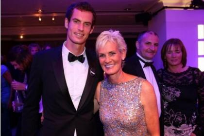 Andy Murray with his mum Judy.