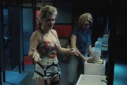 Sheridan Smith and Jaime Winstone star in Powder Room, a movie set inside a ladies toilet in a nightclub.