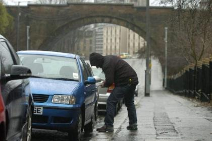 Police have launched the car crime blitz in the Ibrox area