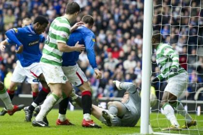 Maurice Edu fires home a last-gasp winner against Celtic in 2010