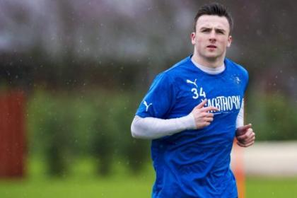 Calum Gallagher will still get his chance of first-team football at Ibrox, says youth coach Gordon Durie