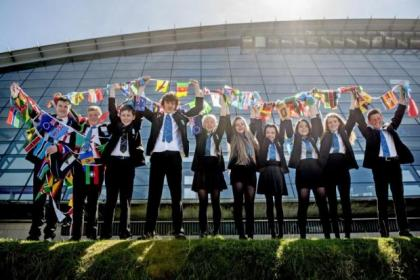 Glasgow schoolchildren gathered at the SECC to learn about the Commonwealth