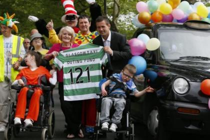 Hundreds of children enjoyed the annual taxi trip to Troon