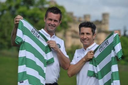 Dream team... New Celtic manager Ronny Deila and his No.2 John Collins. Picture: Nick Ponty