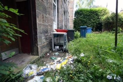 Locals have complained about piles of rubbish outside the surgery