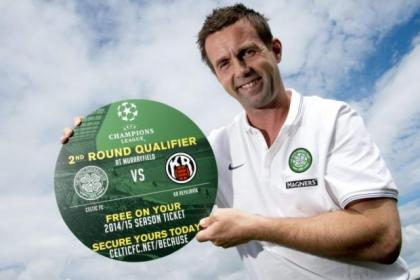 Ronny Deila took time out to promote the home leg of the second-round Champions League qualifier
