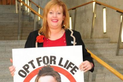 Glasgow MSP Anne McTaggart, who has backed our Opt For Life campaign,  has launched the consultation