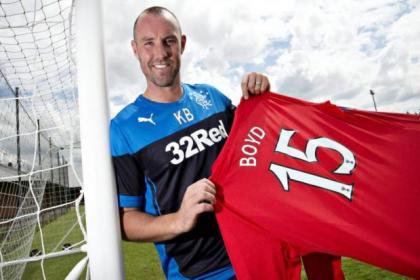 Boyd rejoined Rangers yesterday morning