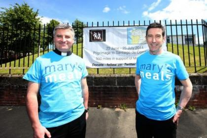 Father Jow Lapain and headteacher Andrew McSorley are to walk to Santiago de Compostela