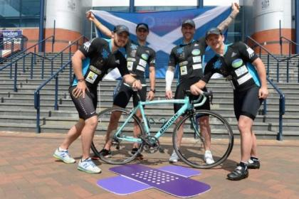 superfit cyclists are raising cash for Yorkhill Hospital