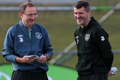 Roy Keane, right, will continue in his role as Martin O'Neill's right-hand man for Ireland after being appointed assistant manager at Aston Villa