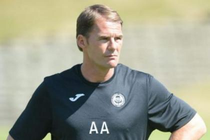 Alan Archibald is delighted to have a dedicated training base to work with his Thistle squad. Picture: Nick Ponty