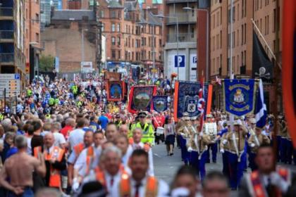 Up to 6000 Orange Order members will march in Glasgow
