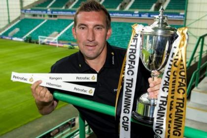 New Hibs boss Alan Stubbs will take his side to Ibrox in the first round of the Petrofac Training Cup