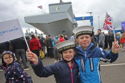 Workers in the Clyde shipyards have played a major role in helping to build HMS Queen Elizabeth, which was launched by the Queen in Rosyth. The monumental aircraft carrier is the largest engineering project in Britain and involved a total of six shipyard sites to complete