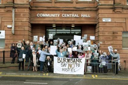 Local residents have been protesting against the Burnbank House scheme since the plans were first unveiled by the council        Picture: Mark Mainz