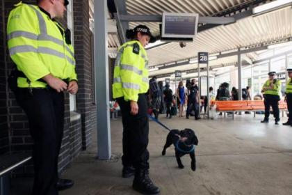 Police patrols with sniffer dogs will be out in force at Buchanan Bus Station this weekend
