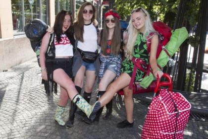 Knightswood girls Erin McLeod, Rachel Hannah, Megan Hamilton and Rebecca Brown, all 17, set off from Glasgow to Balado