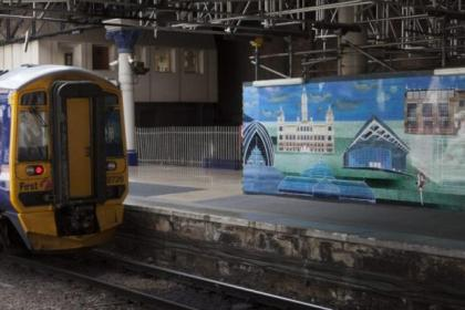 The murals at Queen Street station depict many of the city's famous landmarks