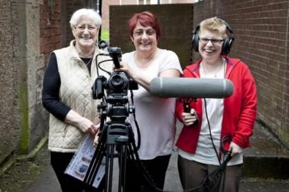From left - Nancy Humphries, Nessie Howard and Mary Alice McLellan are aiming to present the positive side of Bridgeton