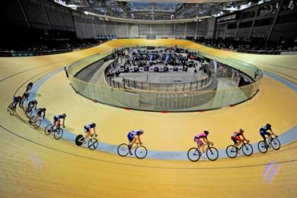 The Scottish Track Cycling Championships 2012, one of the many events so far at the Sir Chris Hoy Velodrome