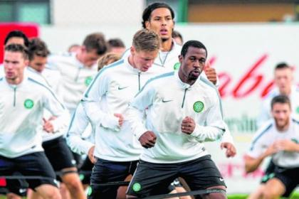 The Super Eagle has landed...Nigerian star Efe Ambrose is in the frame to play tonight for Celtic