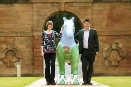 A replacement charity horse sculpture has been paid for by businessman Gerard Killen