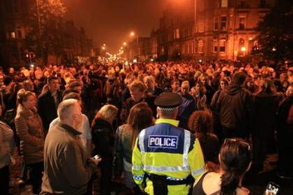 A midnight walk took place last month  to draw attention to a spate of sex attacks in Glasgow  Picture: Robert Perry