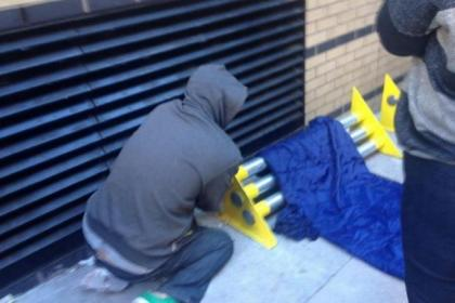 The spikes to force homeless people off city lanes will not be replaced