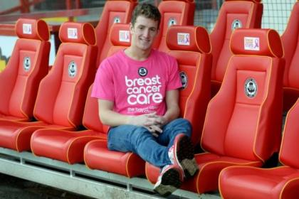 Aaron Muirhead is looking to cement his place in the Thistle defence and is also backing Breast Cancer Care Scotland