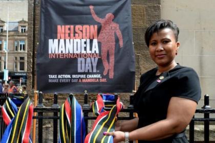 Tukwini Mandela took part in the Glasgow celebrations