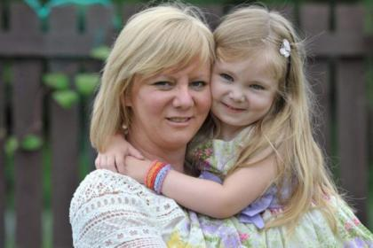 Three-year old Lisa Todd suffers from lymphoedema