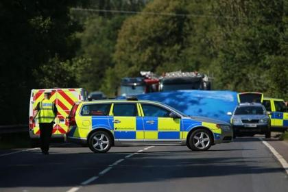 A family of four were killed in yesterday's horror smash