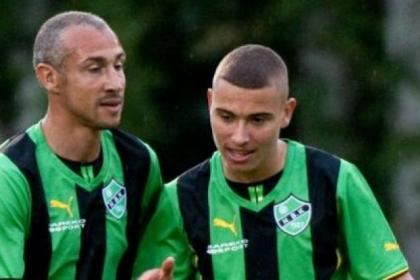 That's my Bhoy ... Henrik Larsson with son Jordan when they appeared together for Hogaborg