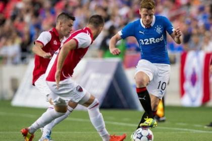 Happy return...Lewis Macleod showed some glimpses of his old form on Rangers North American tour