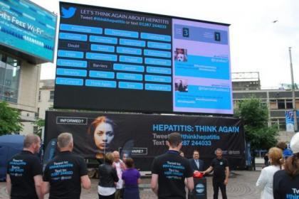 Thw tweet wall is intended to raise awareness of hepatitis