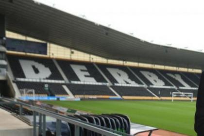 Rangers take on Derby County at Pride Park on Saturday