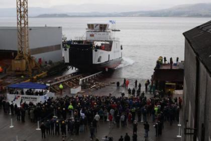 Happier times in 2012: Ferguson's celebrate launch of world's first sea going hybrid ferry