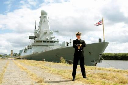 Commanding officer Richard Atkinson is now in charge on HMS Duncan. Picture: Mark Mainz