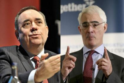 Alex Salmond and Alistair Darling will go head to head in a live referendum debate