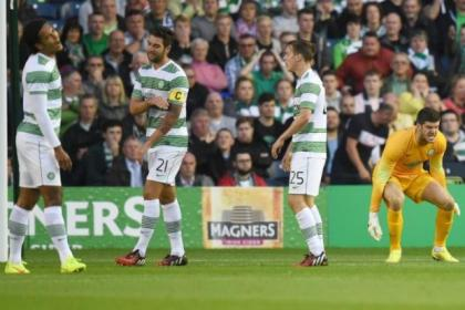 Keeper Fraser Forster vents his fury while Virgil van Dijk, Charlie Mulgrew and Stefan Johansen rue the errors that led to Legia's second goal