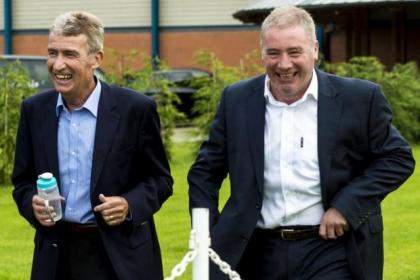 Ally McCoist hopes tomorrow's game with Hearts will do the late Sandy Jardine (pictured left) justice