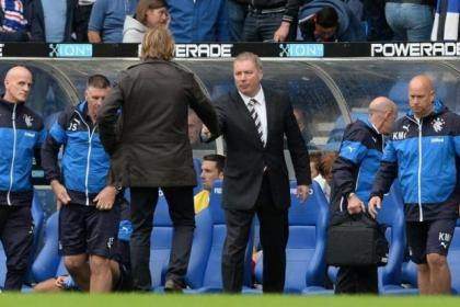 Ally McCoist was unhappy with Charles Green's comments when he spoke after the 2-1 defeat by Hearts at Ibrox