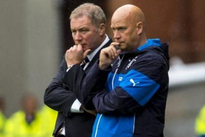 Ally McCoist, pictured with assistant Kenny McDowall, has come in for criticism for his inflexible approach to selection and tactics