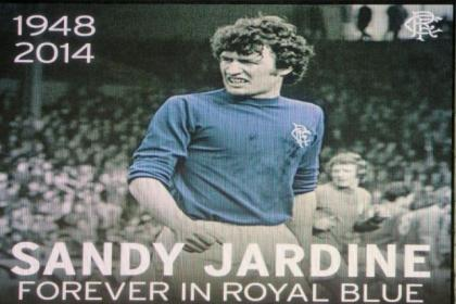 Rangers fans displayed their appreciation of Sandy Jardine